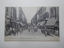 Carte Postale - TOURS (37) - Rue Nationale Côté Sud (3802) - Tours