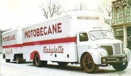 Camion Berliet  -  Publicité Pour La Marque 'Motobécane Mobylette'  -  15x10cms PHOTO - Trucks, Vans &  Lorries