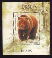 Romania 2008 BLOCK ** MNH BEARS ,OURS.Extra Price !! FACE VALUE! - Blocks & Kleinbögen