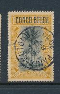 """BELGIAN CONGO 1909 ISSUE """"TYPO"""" COB 42 USED PLATE POSITION  NUMBER 6 - Belgisch-Kongo"""