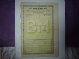 CERTIFICAT DE COUPURES D'ACTIONS AU BON MARCHE 1946 - Aandelen