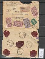 France  -Lettre Chargée De Bastia - Corse Pour Porto Vecchio  - Corse - 1924 - Réexpédiée à Quenza - Postmark Collection (Covers)