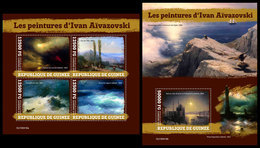 GUINEA 2019 - Ivan Aivazovsky. M/S + S/S. Official Issue [GU190418] - Maritiem