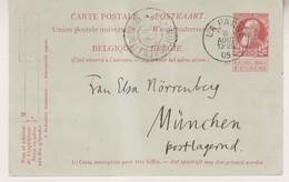 Carte Postale Du 8/08/1905 De La Panne Vers Munich Allemagne - Interi Postali