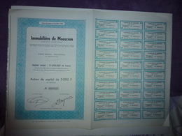 ACTION DE CAPITAL DE 5000 FRANCS IMMOBILIERE DE MOUSCRON 1944 - Aandelen