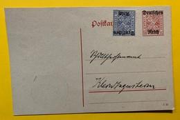 9724 - Ganzache  10 Pf Rouge + Trimbre 20 Pf Bleu - Wurtemberg