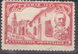 Ensemble De Deux Vignettes-cinderellas-exposition Universelle De 1900et Grand Hotel De Paris à Tunis - Tunisie (1888-1955)