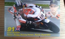 Carte Postale Moto Gp Honda Leon Haslam - Motorbikes
