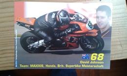 Carte Postale Moto Gp Honda David Johnson - Motorbikes