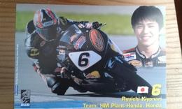 Carte Postale Moto Gp Honda Ryuichi Kiyonari - Motorbikes