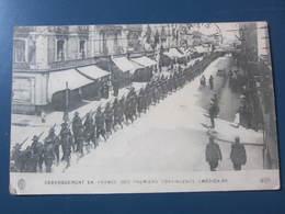 Carte Postale Débarquement En France Des Premiers Contingents Américains - Guerre 1914-18