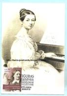 PORTUGAL - FIGURES IN WORLD CULTURE MUSIC CLARA SCHUMANN MAXIMUM CARD - MUSIQUE CARTE MAXIMUM - Cartes-maximum (CM)
