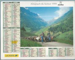 ALMANACH DES POSTES  1999 ( CALENDRIER  ) - LA MONTEE EN ALPAGE / FÊTE DES MOISSONS - JUVIGNE - Calendriers