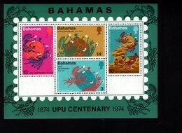 900272401 1974 UPU - BAHAMAS SCOTT 361A POSTFRIS MINT NEVER HINGED EINWANDFREI (XX) - Timbres