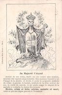 Sa Majesté L'Alcool - Carte Anti-Alcoolique - Ed. Ligue Part. C. L'alcoolisme Bruxelles - 1911- Bien Social Belgique - Autres