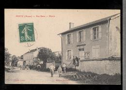 CPA 55 Pretz - Rue Basse - Mairie - Circulée - France