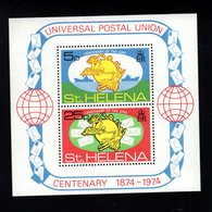 900274798 1974 UPU - ST.HELENA SCOTT 284A POSTFRIS MINT NEVER HINGED EINWANDFREI (XX) - Timbres