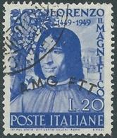 1949 TRIESTE A USATO LORENZO IL MAGNIFICO - RB40-3 - 7. Trieste