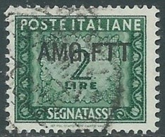 1949-54 TRIESTE A SEGNATASSE USATO 2 LIRE - RB34-6 - 7. Triest