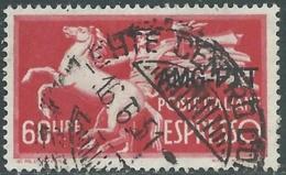 1950 TRIESTE A ESPRESSO USATO DEMOCRATICA 60 LIRE - RB40-5 - 7. Triest