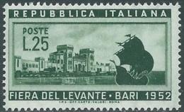 1952 ITALIA FIERA DI BARI MNH ** - RB33-6 - 1946-60: Nuovi