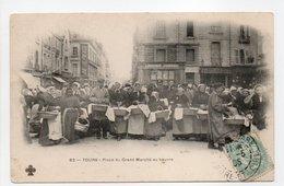 - CPA TOURS (37) - Place Du Grand Marché Au Beurre 1905 (belle Animation) - Edition Tesson (MTIL) N° 62 - - Tours
