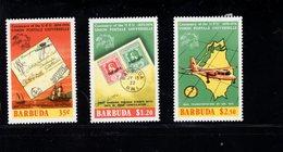 900277114 1974 UPU - BARBUDA SCOTT 167 168 169 POSTFRIS MINT NEVER HINGED EINWANDFREI (XX) - Timbres