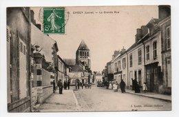 - CPA CHÉCY (45) - La Grande Rue (avec Personnages) - Edition Loddé N° 18 - - Francia