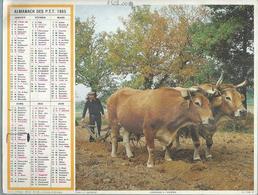 ALMANACH DES POSTES  1985 ( CALENDRIER ) LABOURAGE A L'ANCIENNE / FOTOKUNST ( BOEUF ) - Calendriers