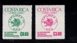 900278296 1974 UPU - COSTA RICA SCOTT C594 C595 POSTFRIS MINT NEVER HINGED EINWANDFREI (XX) - Timbres