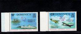 900279193 1974 UPU - DOMINICA SCOTT 418 419 POSTFRIS MINT NEVER HINGED EINWANDFREI (XX) - Timbres