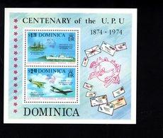 900281014 1974 UPU - DOMINICA SCOTT 419A POSTFRIS MINT NEVER HINGED EINWANDFREI (XX) - Timbres