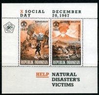 INDONESIE: ZB 599 MNH** Blok 9 1967 10e Sociale Dag - Indonesien