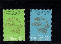 900281971 1974 UPU - NETHERLANDS ANTILLES SCOTT 364 365 POSTFRIS MINT NEVER HINGED EINWANDFREI (XX) - Timbres