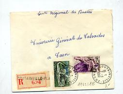 Lettre Recmmandée Coutainville Sur Cognac Kerrata - Poststempel (Briefe)
