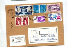 Lettre Recmmandée Saint Cloud Sur Bequet Daurat Iris - Poststempel (Briefe)