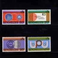 900283030 1974 UPU - SEYCHELLES SCOTT 317 318 319 320 POSTFRIS MINT NEVER HINGED EINWANDFREI (XX) - Timbres