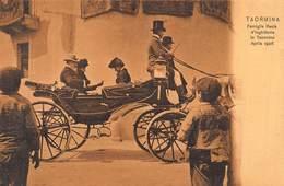 TAORMINA SICILY~FAMIGLIA REALE D'INGHILTERRA~1906 G CRUPI SEPIA PHOTO POSTCARD 42835 - Italie