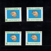900285433 1974 UPU - EL SALVADOR SCOTT 854 855 C356 C357 POSTFRIS MINT NEVER HINGED EINWANDFREI (XX) - Timbres