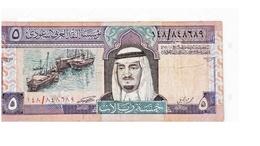 BILLET ARABIE SAOUDITE 5 RIYALS - Arabie Saoudite