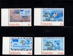 900288916 1974 UPU - GHANA SCOTT 512 513 514 515 POSTFRIS MINT NEVER HINGED EINWANDFREI (XX) - Timbres