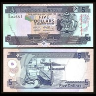 BILLET SALOMON ISLAND 5 DOLLAR - Salomonseilanden