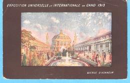 Gent (Gand)-Wereld Tentoonstelling-Exposition Universelle-1913-Eerelaan (laan)-Avenue D'Honneur- Lithographie - Gent