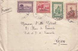LETTRE. RUANDA-URUNDI. 12 2 1936. USUMBURA PAR TENKE POUR LYON - 1924-44: Lettres