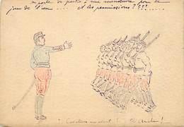 -ref-B891- Manoeuvres - Carte Dessinée -texte: Manoeuvres Le Jour De L 'an .. Et Les Permissions ?- Militaria - - Manovre