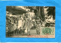 Dahomey-voyage Ministre Des Colonis-gros Plan Danse De Chefs- Tp 5c N°21+cachet Ouidah 4 Mars 1910-édit Fortier - Dahomey