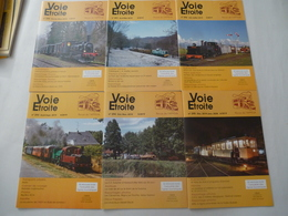 REVUE Sur Le Chemin De Fer : VOIE ETROITE  - Lot De 6 N°de 2019 - Année Compléte 290 à 295) - Railway & Tramway