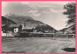 Photo Train - Lax - Furka Oberalp Vallée De Conches - Train à Vapeur - Locomotive - PHOTO H. MEIER THUN - Trains