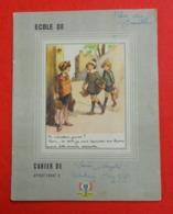 Ww2 Cahier De Brouillon Propagande Avec Francisque Image De Poulbot Message Du Maréchal Pétain 1941 Aux Ecoliers - 1939-45