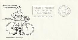 """Env. De """"Périgueux RP - 24, Dordogne"""" Du 14-04-1990, """"Paques En Périgord Abec Les Cyclos, Club Velocio"""" En Port Payé - Mechanical Postmarks (Advertisement)"""